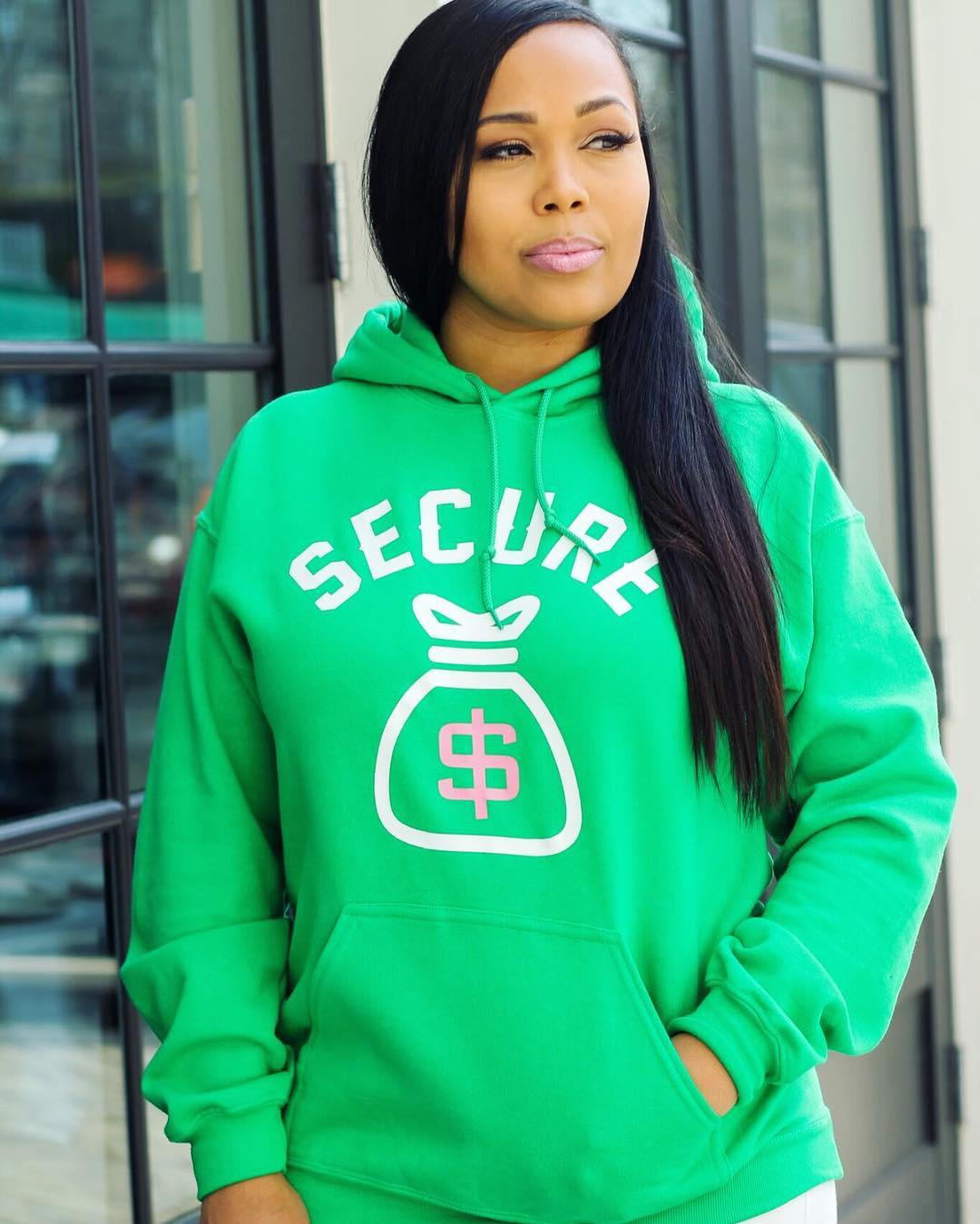 """Secure the Bag"" Hoodie- Green"
