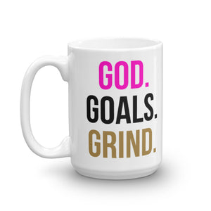 God Goals Grind Coffee Mug