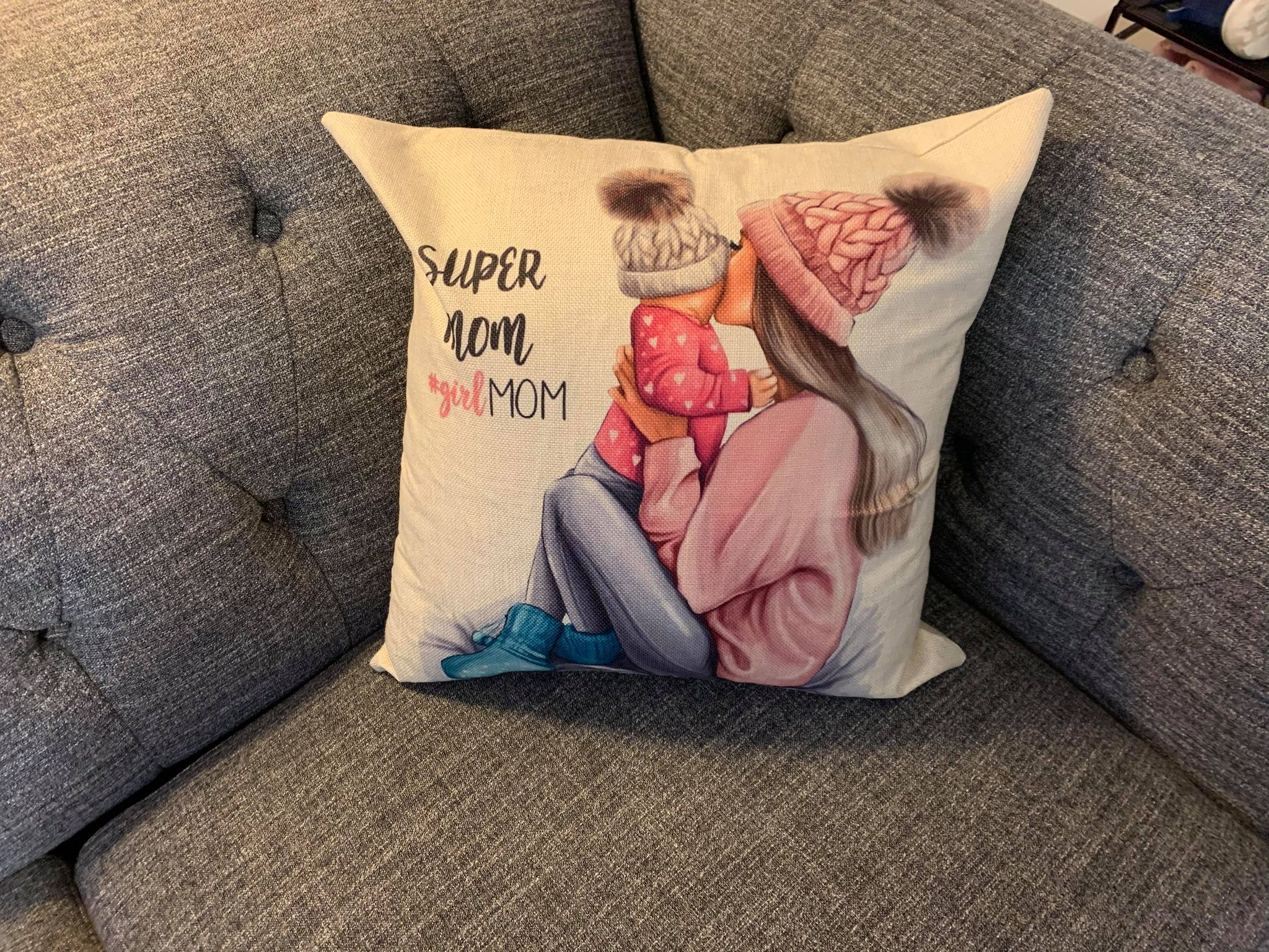 Super Mom #girlmom  pillowcase