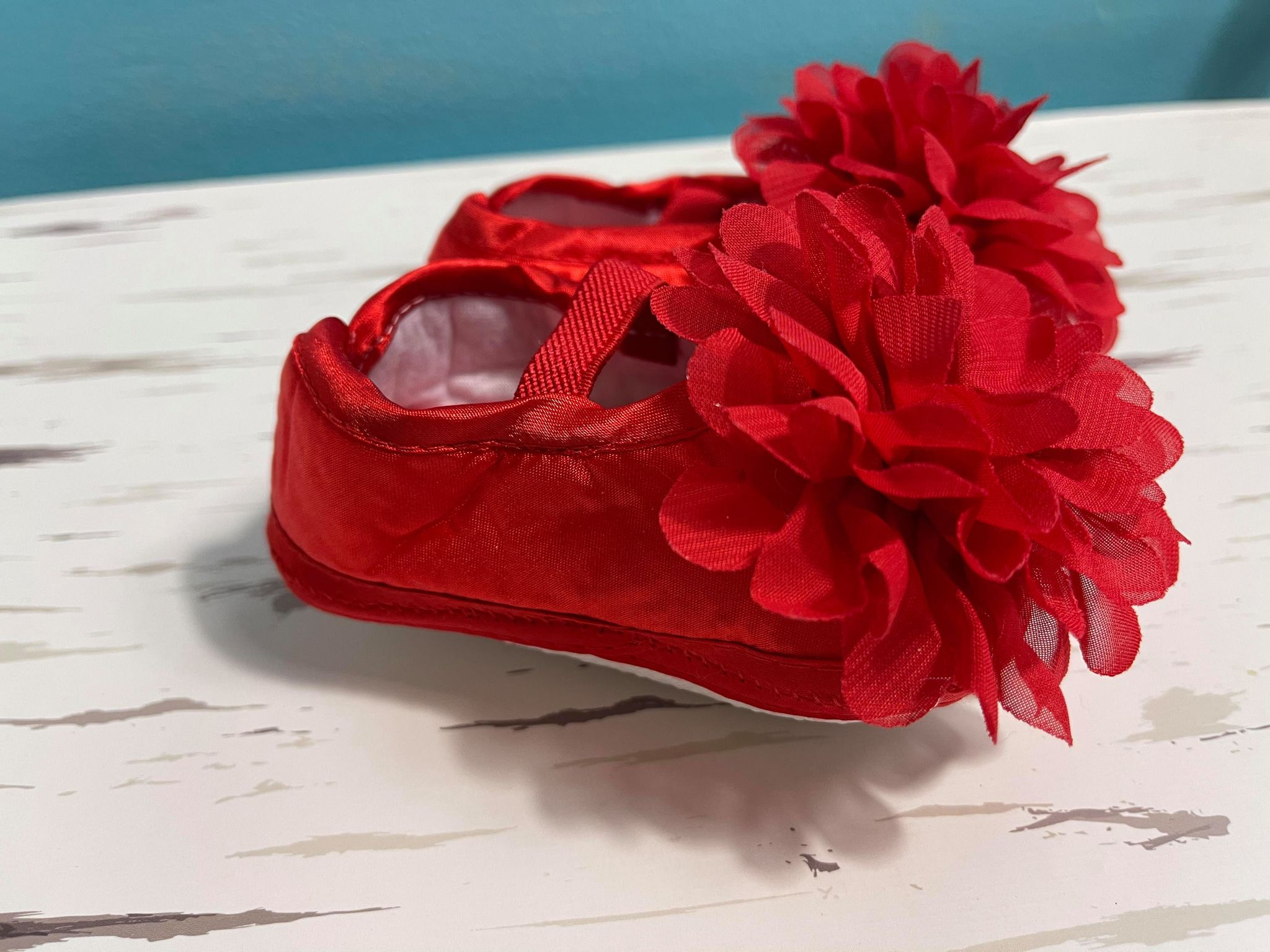 red baby dress shoes