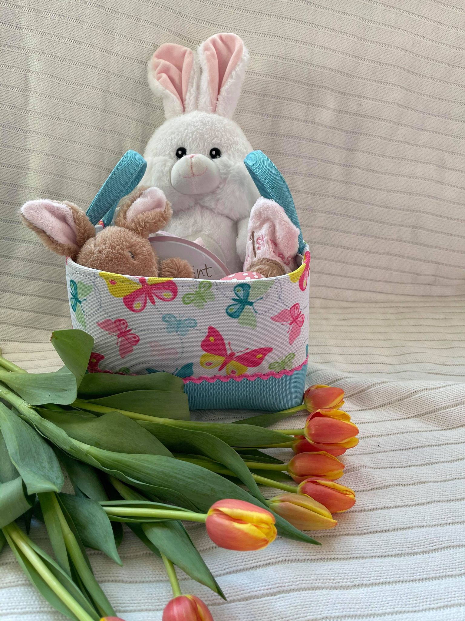 Baby Girls First Easter Basket - Young Hugs