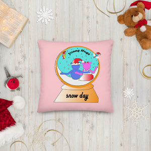 Open image in slideshow, snow globe pink Premium Pillow