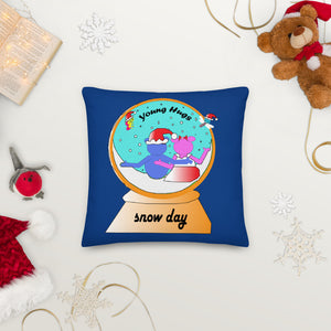 Open image in slideshow, snow globe dark blue Premium Pillow