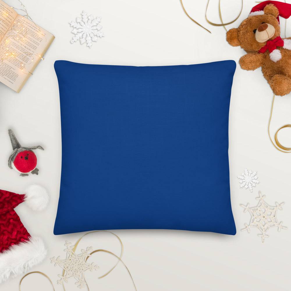 snow globe dark blue Premium Pillow