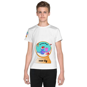 Open image in slideshow, Young Hugs Snow Globe Youth T-Shirt