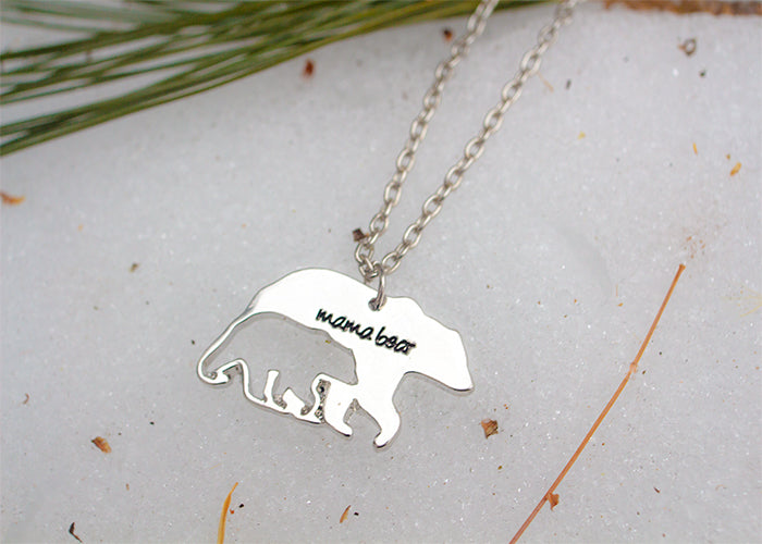 Polar bear Mama bear necklace