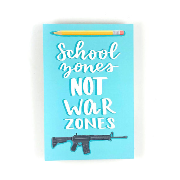 School Zones Not War Zones Write Your Rep Protest Postcard