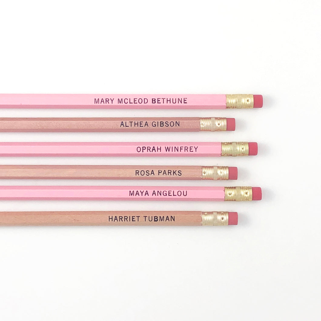 INFLUENTIAL BLACK WOMEN OF HISTORY PENCIL SET