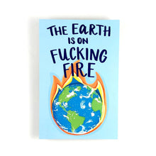 Load image into Gallery viewer, The Earth is on Fire Write Your Rep Protest Postcard