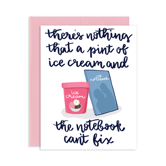 NOTEBOOK AND ICE CREAM
