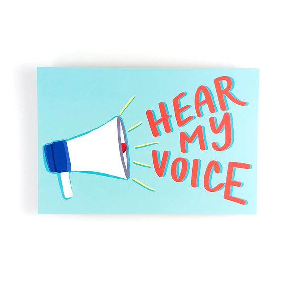 Hear My Voice Write Your Rep Protest Postcard