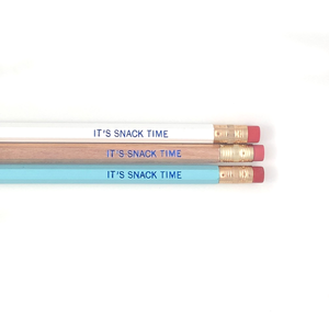 IT'S SNACK TIME PENCIL SET