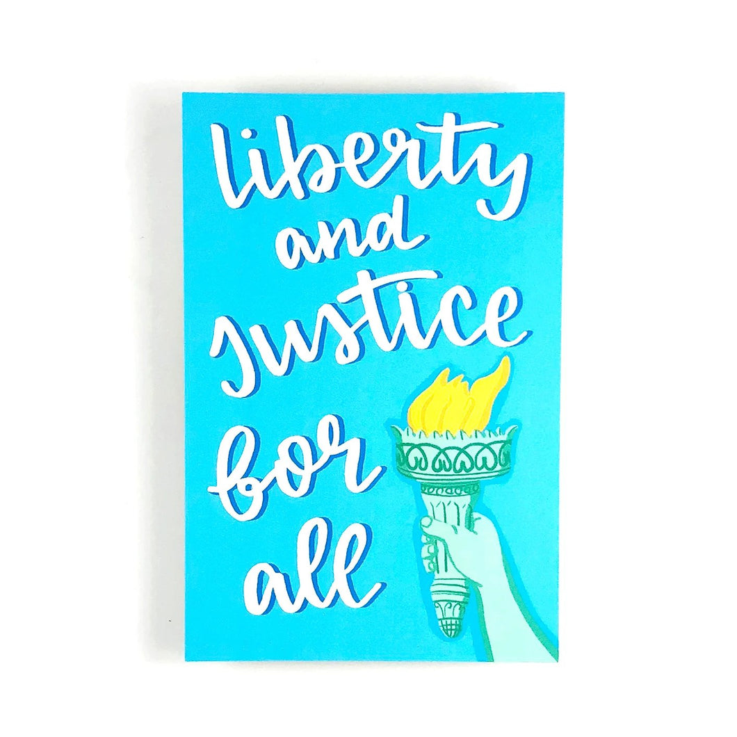 Liberty and Justice For All Write Your Rep Protest Postcard