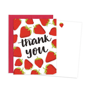 STRAWBERRY THANK YOU NOTE CARDS