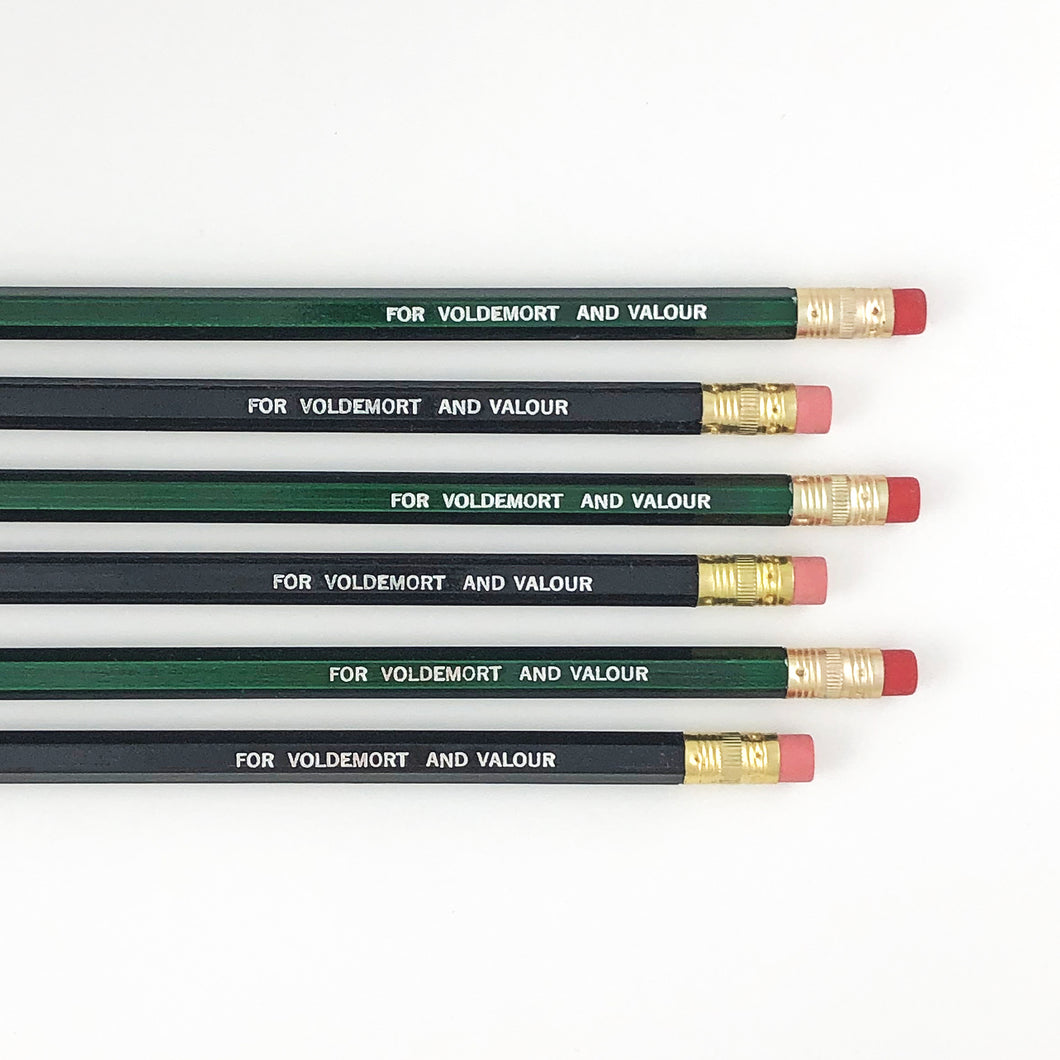 VOLDERMORT AND VALOUR PENCIL SET