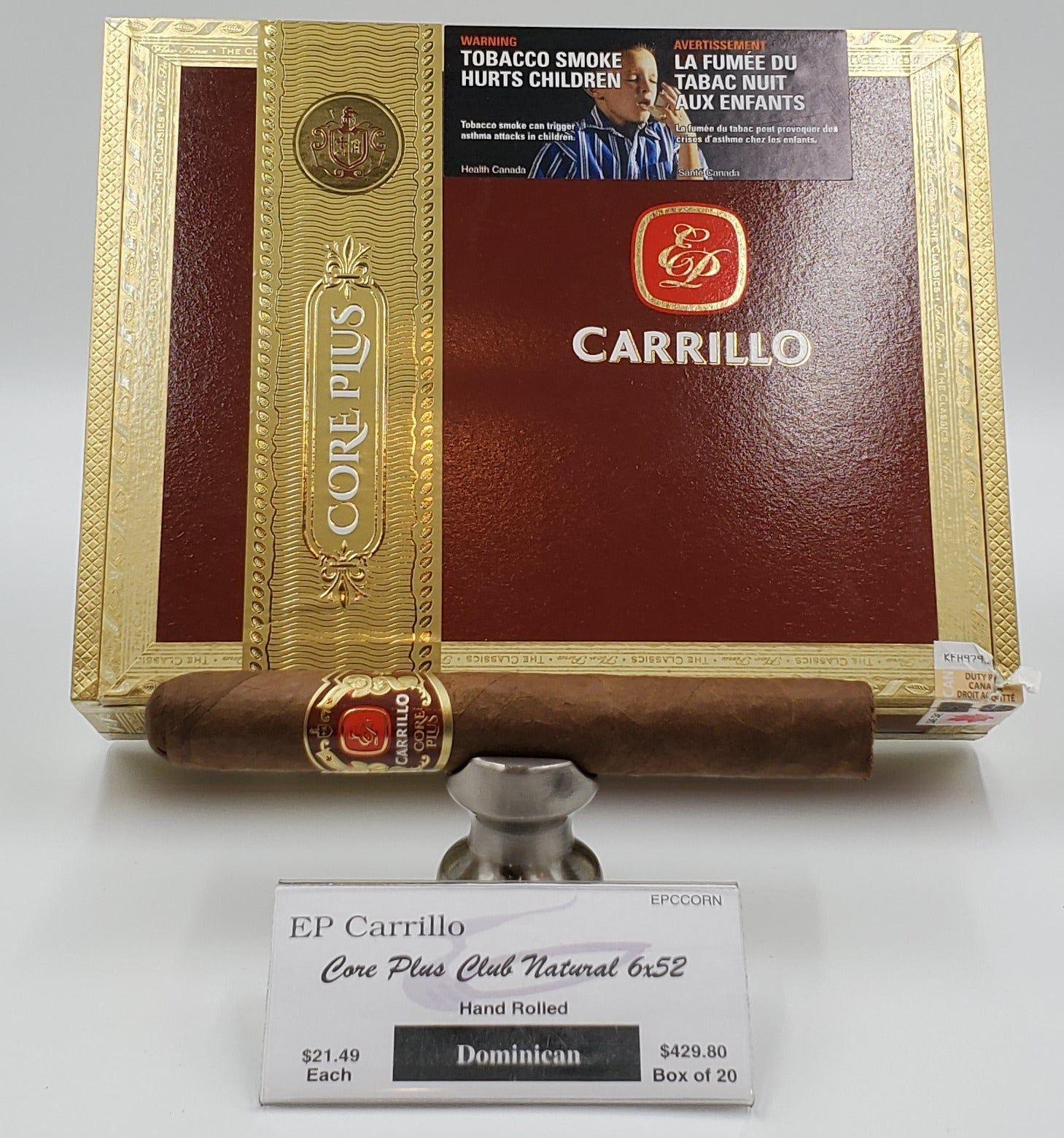 E.P. Carrillo Core Plus Club Natural 6x52