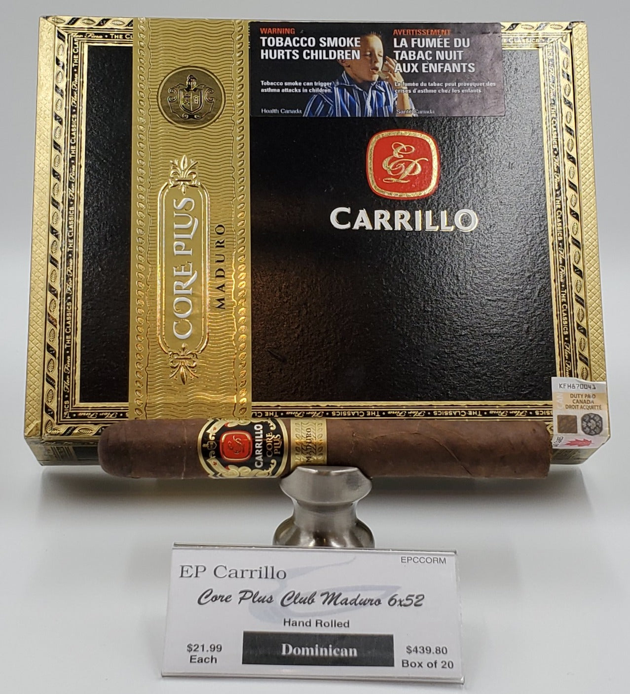 "E.P. Carrillo Core Plus Club Maduro 6""x52"