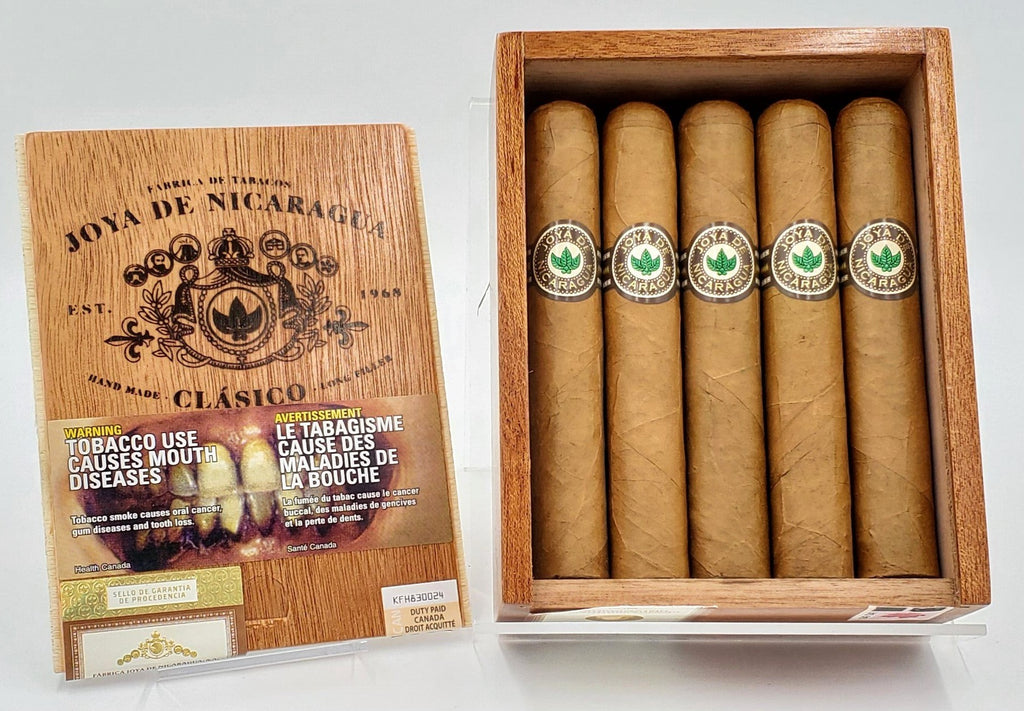 A BOX of 10 Joya de Nicaragua Clasico Robusto Only $104.49, Pay Only $10.44 per Cigar!.. Regular Price $144.90..Sorry NOT eligible for free mail order shipping. Free Local Home Delivery Available.