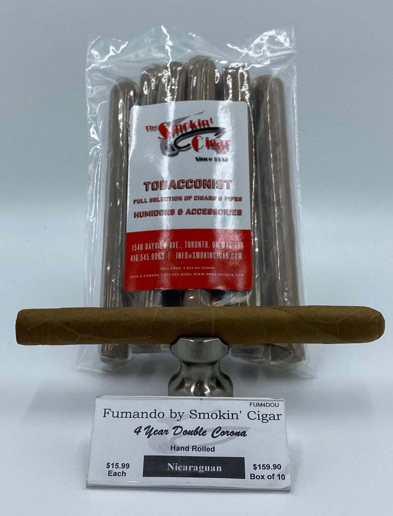 Fumando by Smokin' Cigar 4 Year Double Corona. Buy 10 and get one for a penny!