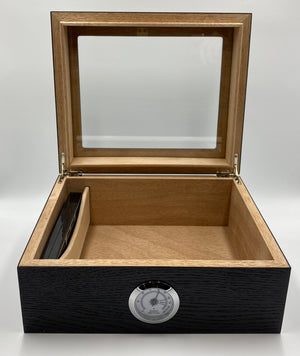 Capri Black Oak Glasstop 50+ CC Humidor