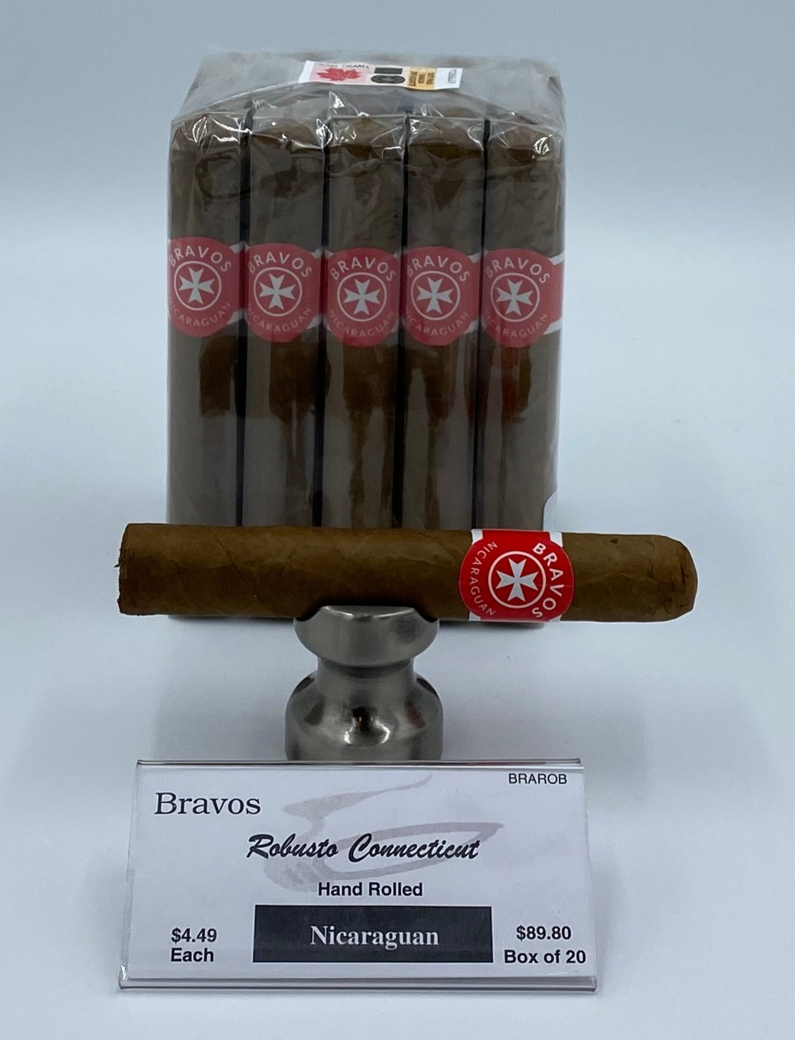 A BUNDLE OF 20 Bravos Robusto Connecticut...SAVE 10%....Sorry NOT eligible for FREE mail order shipping,Free Local Home Delivery available.
