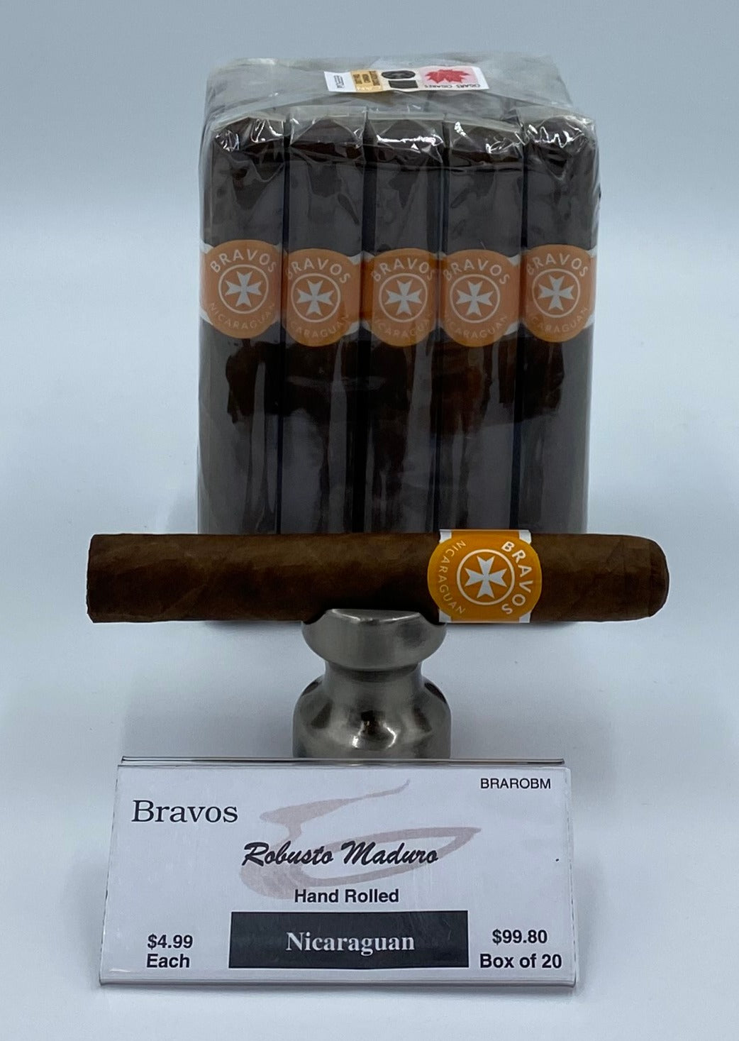 20..A BUNDLE of 20 Bravos Robusto Maduro...SAVE 10%....Sorry NOT eligible for FREE mail order shipping.