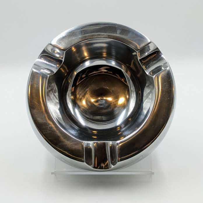 Aluminum Three Cigar Round Paris Ashtray - The Smokin' Cigar Inc. The Smokin' Cigar Inc. Ashtray