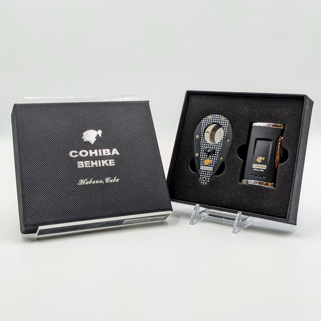 Cohiba Behike Lighter and Cutter Set - The Smokin' Cigar Inc. Cohiba Cutters