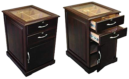 End Table Cabinet Humidor Includes Cigar Oasis Plus