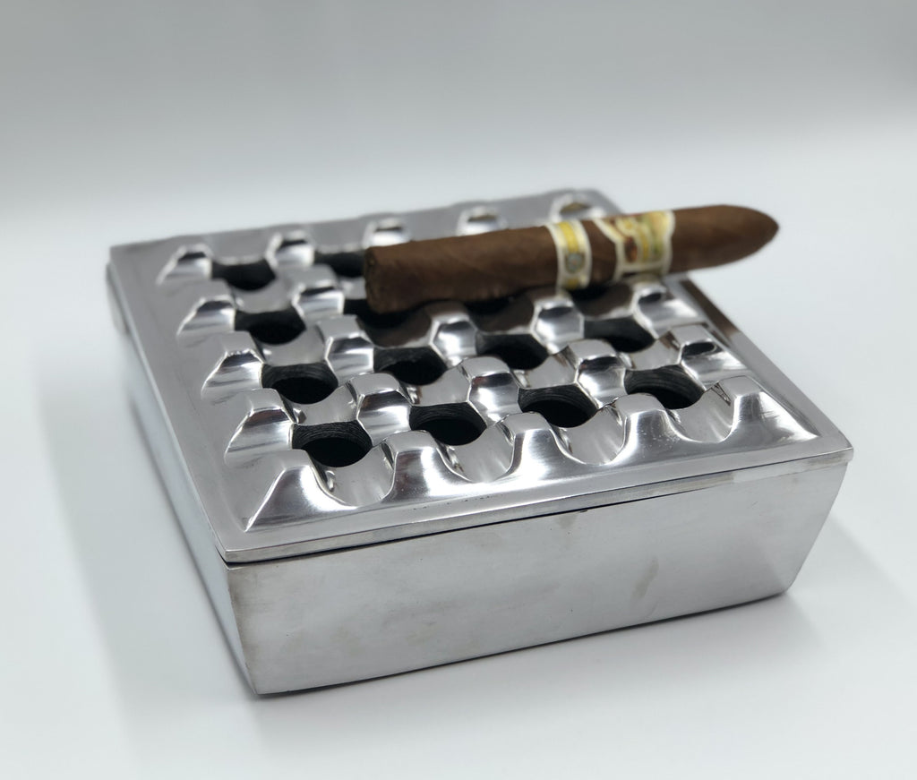 Metal Grid Ashtray