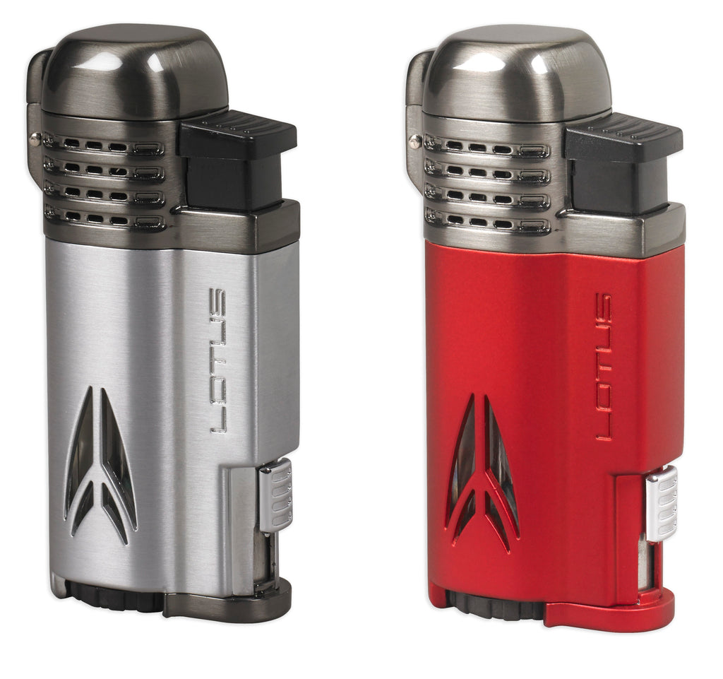 Lotus Defiant Quad Flame Lighter. Click here to see collection!