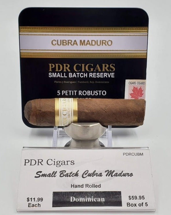 PDR Cigars Small Batch Cubra  Maduro