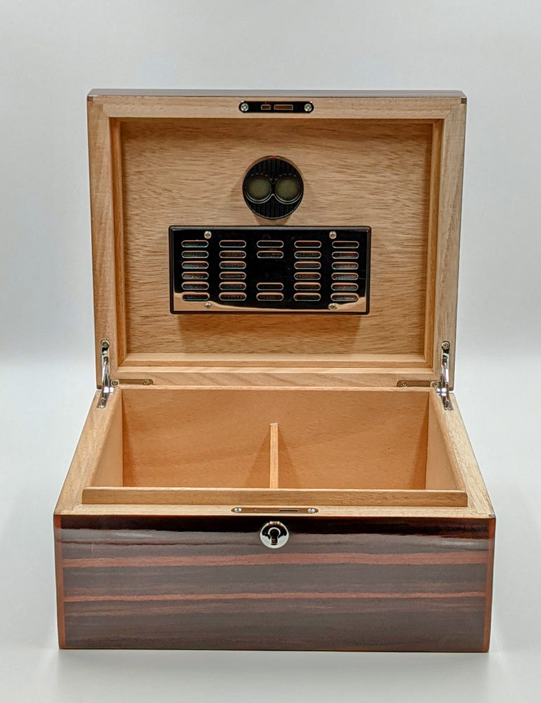 Savinelli 80+CC Humidor. Includes 1 Humidifier and 1 Digital Hydrometer. Click here to see Collection! - The Smokin' Cigar Inc. The Smokin' Cigar Humidors