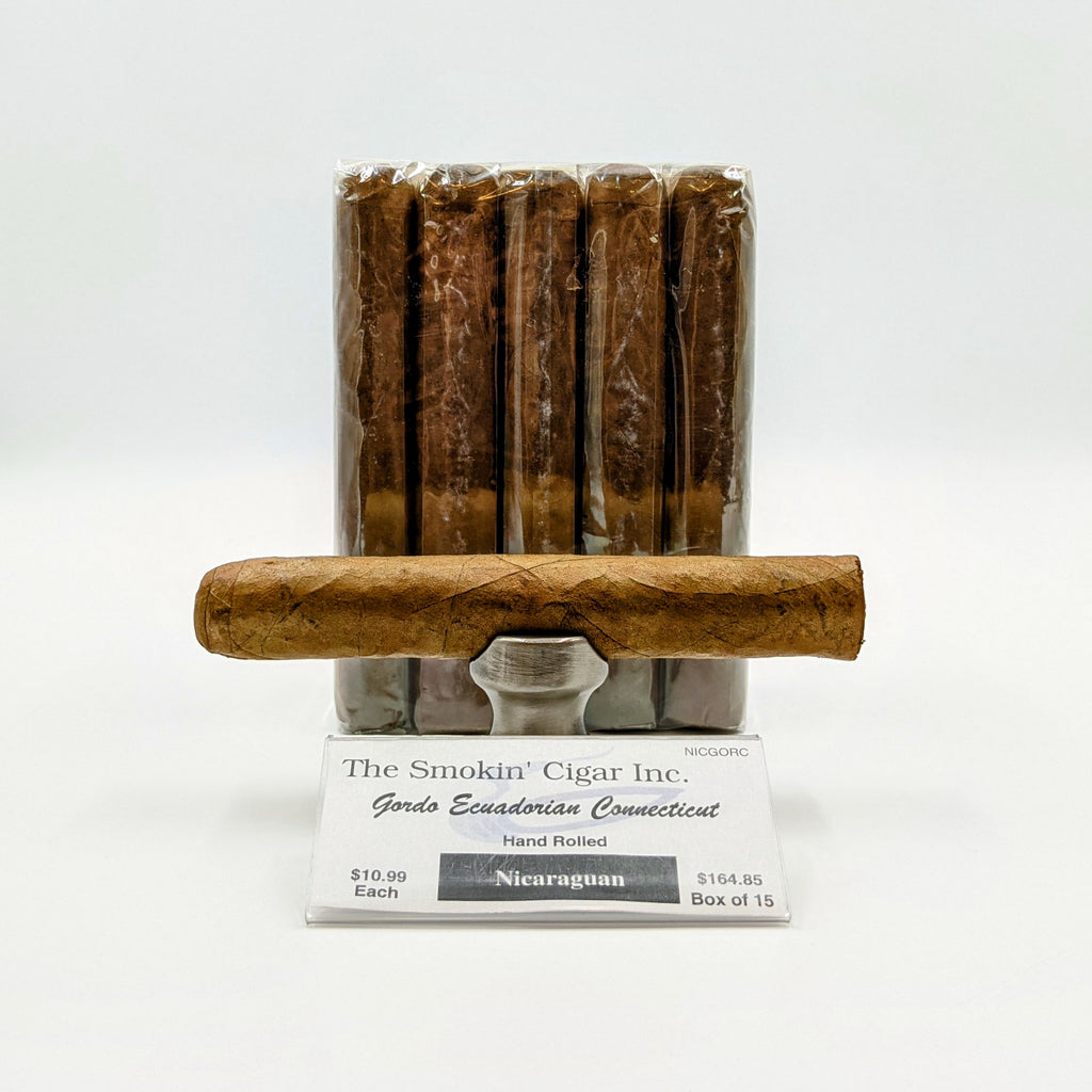 "Smokin' Nicaraguan Gordo Connecticut 6"" x 60. BUY 10 GET ONE FOR A PENNY or BUY 15 GET TWO FOR 2 PENNIES. - The Smokin' Cigar Inc. The Smokin' Cigar Inc. Cigar"