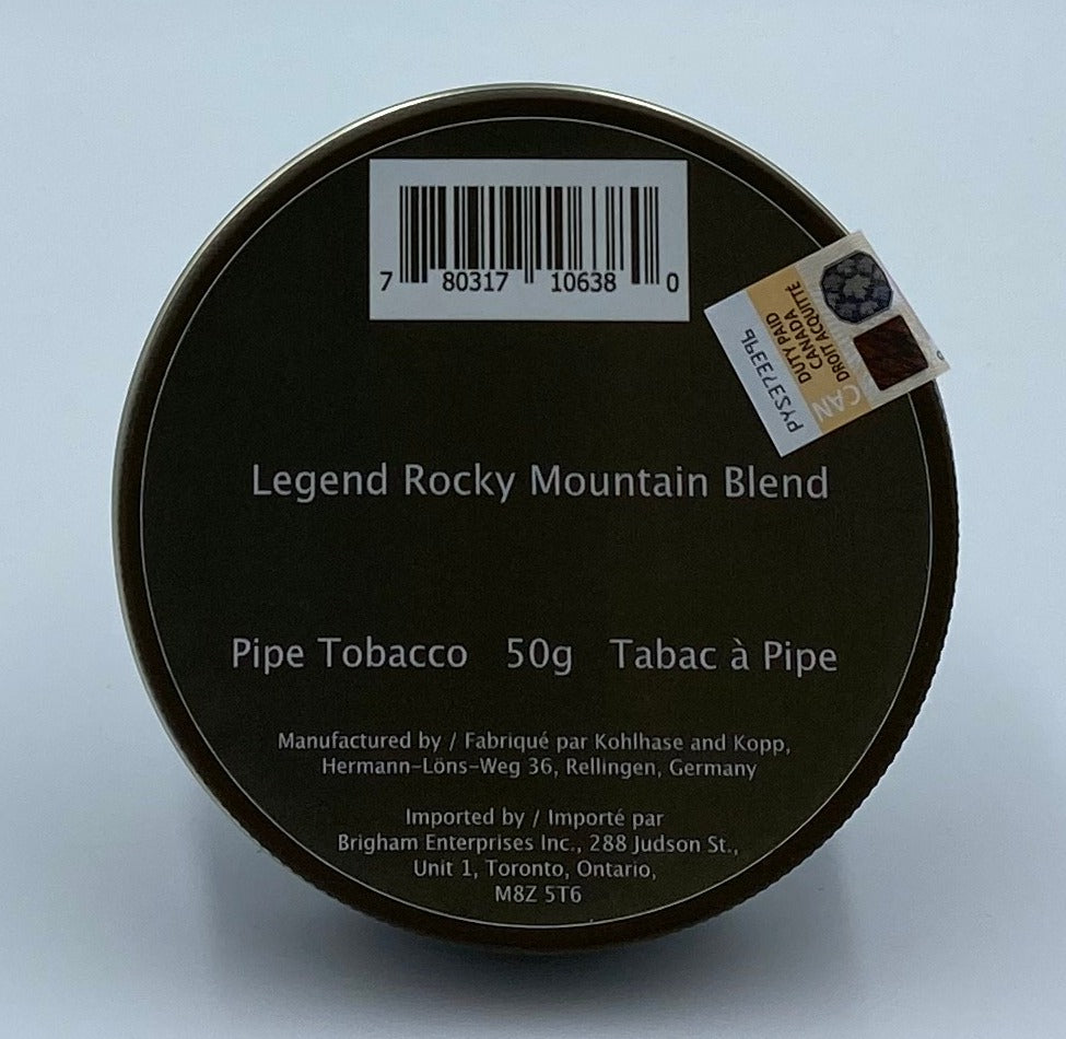 Legend Rocky Mountain 50g Pipe Tobacco