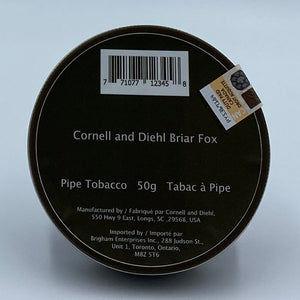 Cornell and Diehl Briar Fox 50g Pipe Tobacco