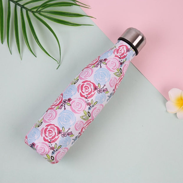 Stainless Steel Flamingo Floral water bottle