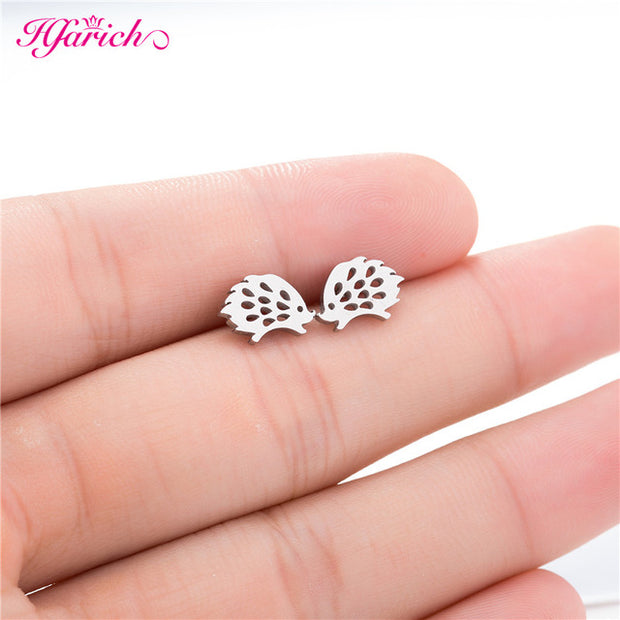 Black Star Earrings for Women