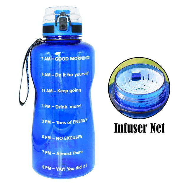 QuiFit 2L 1.3L 450ml Half Gallon Tritan Sports Water Bottle