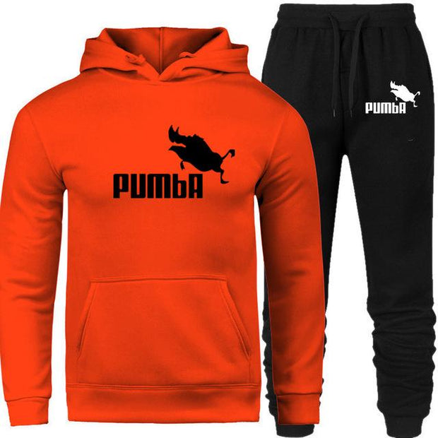 2020 New Fashion Unisex Hoodies Sweatshirts+Sweatpants Autumn Winter Fleece Hood