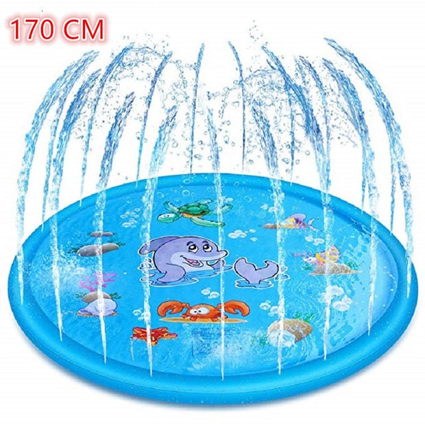 170cm Inflatable Kids Sprinkle Water Outdoor Tub Swiming Pool Water Lawn Mat