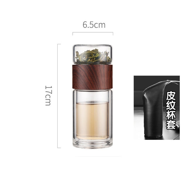 Tea Water Separation Glass Bottle