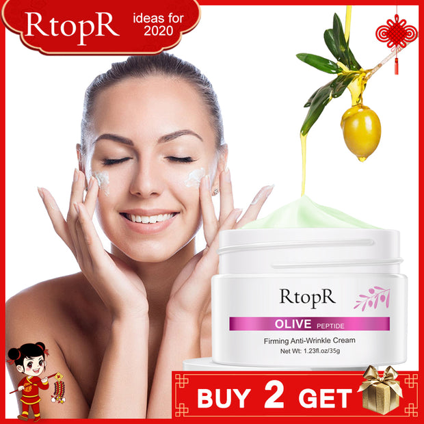 Face Cream Olive Extract Reduce Lines Firming Anti-Wrinkle Tighten Pores Whitening  Acne Treatment