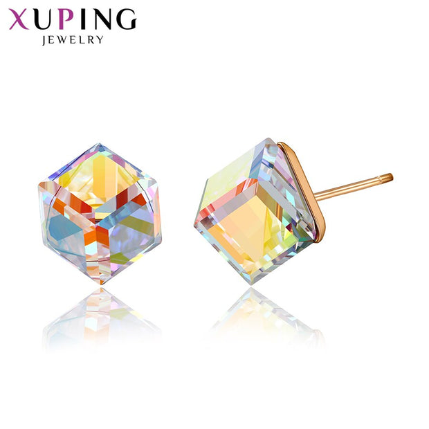 Women Swarovski Elegant Colorful Studs Earrings from  Minimalist Style