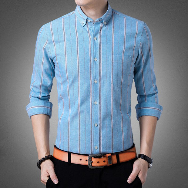 Men Long Sleeve Shirt Wear Spring And Autumn Days Clothes