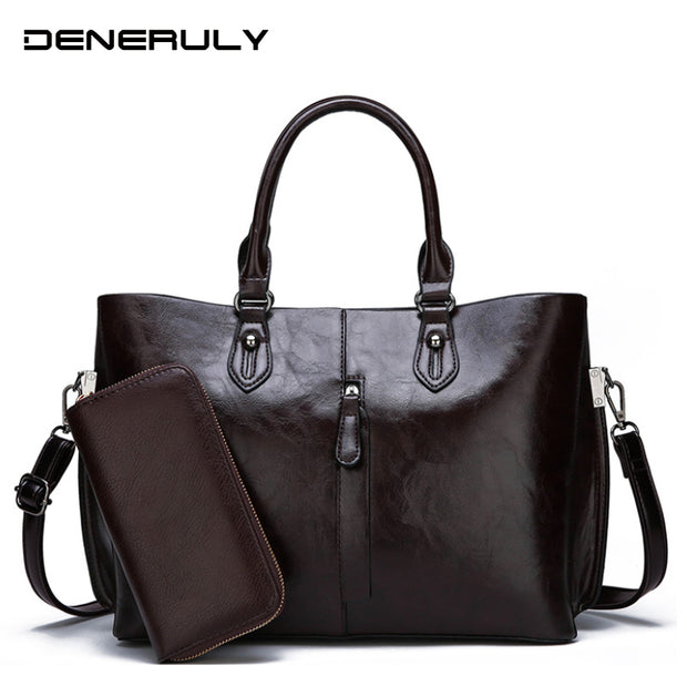 Women Luxury Soft Leather Shoulder Bag High Capacity Quality