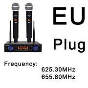 Handheld UHF Frequencies 2 channels Wireless Microphone for Karaoke System