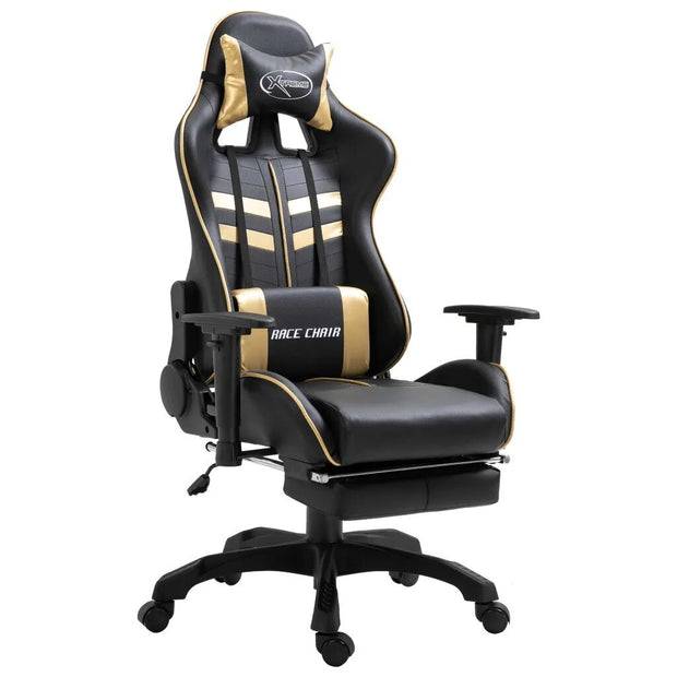 Ergonomic Computer Chair Gamer Home Office Cafe With Footrest Height-Adjustable Design
