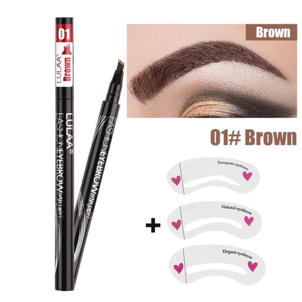 1Pcs Women Liquid Eyebrow Pencil Liner Waterproof Long Lasting Tattoo Dye