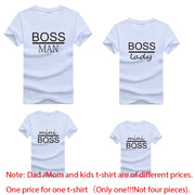 T-Shirt Family Matching Outfits Mommy Daddy Kid Son Baby Letter Print Tops